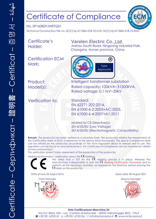 CE for substations